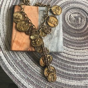 Jewelry - Bronze colored vintage coin necklace